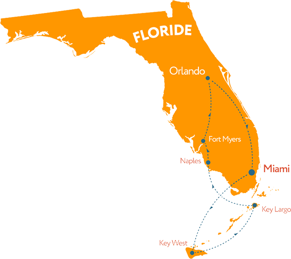 Carte de la Floride